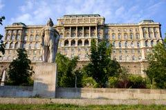 Buda城堡& Dozsa雕象 库存照片