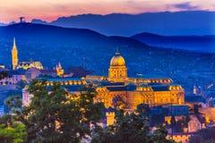 Buda宫殿马赛厄斯教会布达佩斯匈牙利 库存照片