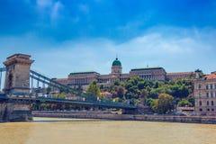 Buda皇家城堡在布达佩斯 图库摄影