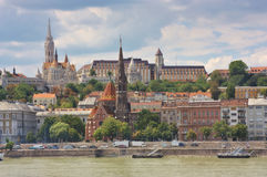 Buda,布达佩斯视图  免版税库存照片