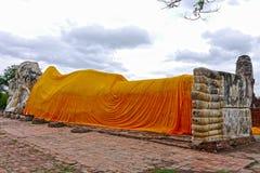 Buda возлежало в Ayutthaya Таиланд Стоковые Фото