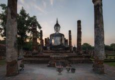 Buda antiga no templo Imagem de Stock