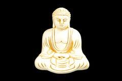 Buda assentada na meditação fotografia de stock