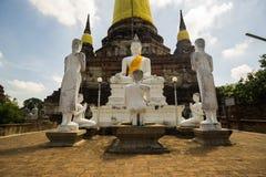 Buda blanco il de Ayutthaya, Buddha bianco di Ayutthaya immagine stock