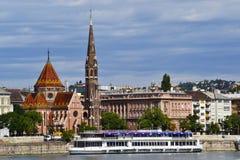 Buda Calvinist church, Budapest, Hungary. Europe royalty free stock photos