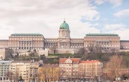 Buda Castle é o complexo histórico do castelo e do palácio dos reis húngaros em Budapest Imagem de Stock