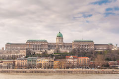 Buda Castle é o complexo histórico do castelo e do palácio dos reis húngaros em Budapest Imagens de Stock