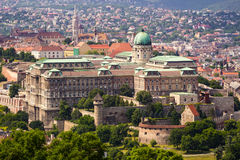 Buda Castle από την ανυψωμένη άποψη Στοκ φωτογραφία με δικαίωμα ελεύθερης χρήσης