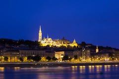 Buda Castle τη νύχτα στοκ φωτογραφίες