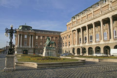 Buda Castle. Front courtyard of the Buda castle in Budapest Hungary Stock Photography