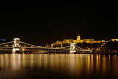 Buda castle. By night, budapest, hungary Royalty Free Stock Images