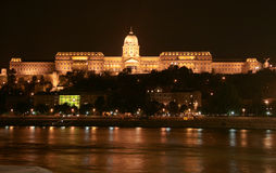 Buda Castle. Lluminated Buda Castle in Budapest, Hungary Stock Image
