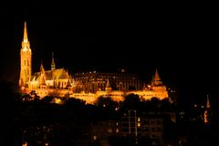 Buda Castle as viewed across the Danube Royalty Free Stock Photo