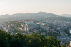 Buda Castle and Buda Hills at Sunset, Budapest, Hungary Royalty Free Stock Photo