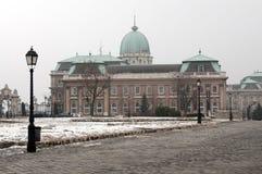 Buda Castle in Budapest. Hungarian landmarks, Buda Castle in Budapest, in Winter royalty free stock photography