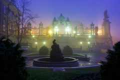 Buda Castle, Budapest. Buda castle at foggy morning, Budapest Stock Photography