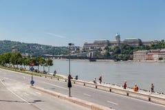 Buda Castle Budapest Stock Afbeelding