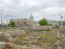 Buda Castle in Budapest. Backside scenery at Buda Castle in Budapest, the capital city of Hungary royalty free stock photography
