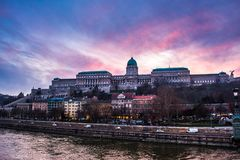 Buda Castle. Is the historical castle and palace complex of the Hungarian kings in Budapest Royalty Free Stock Images