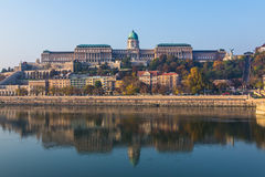 Buda Castle in Budapest from the Danube River Royalty Free Stock Photography