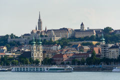 Buda castle in Budapest. Buda castle district along the Danube river in Budapest, Hungary stock photos