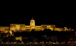 Buda castle, Budapest. Famous Buda Castle in Budapest, Hungary by night stock image