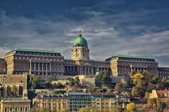 Buda Castle, Budapest. Buda castle is a historical castle in Budapest, Hungary royalty free stock image