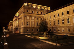 Buda Castle in Budapest, Hungary. Shot of night Buda Castle in Budapest, Hungary Stock Photography