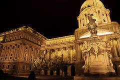 Buda Castle in Budapest, Hungary. Shot of night Buda Castle in Budapest, Hungary Royalty Free Stock Photography