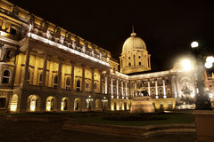 Buda Castle in Budapest, Hungary. Shot of night Buda Castle in Budapest, Hungary Stock Photos