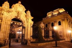 Buda Castle in Budapest, Hungary. Shot of night Buda Castle in Budapest, Hungary Royalty Free Stock Image