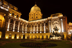 Buda Castle in Budapest, Hungary. Shot of night Buda Castle in Budapest, Hungary Stock Photo