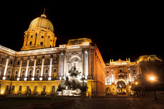 Buda Castle in Budapest, Hungary. Shot of night Buda Castle in Budapest, Hungary Royalty Free Stock Photo