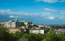 Buda Castle. The Buda Castle in Budapest, Hungary royalty free stock photography