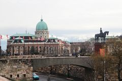 Buda Castle, Budapest, Hungary. Buda Castle is the historical castle and palace complex of the Hungarian kings in Budapest royalty free stock image