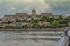 The Buda Castle of Budapest, Hungary stock image