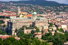 Buda Castle, Budapest, Hungary From Citadel Royalty Free Stock Photo