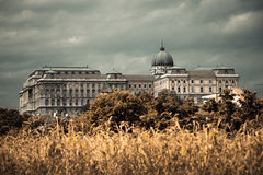 The Buda Castle of Budapest, Hungary - horror style color Royalty Free Stock Images