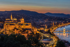 Buda Castle in Budapest Hungary Stock Image