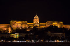 The Buda Castle of Budapest, Hungary at night Royalty Free Stock Photography