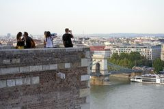 Buda Castle, Budapest - lookout tower / belvedere point Royalty Free Stock Images