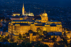 Buda Castle in Budapest. Buda Castle overlooking the Danube River in Budapest Stock Photo