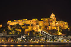 Buda Castle in Budapest. Buda Castle overlooking the Danube River in Budapest Stock Image