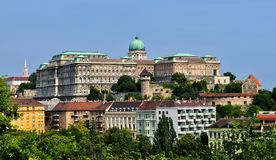 The Buda Castle - Budapest. Photo of the Buda Castle and Palace  - Budapest - Hungary- July 2010 Stock Images