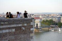 Buda Castle, Budapest - tour de surveillance/point de belvédère images libres de droits