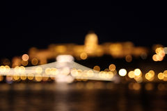 Buda Castle and the Chain Bridge at Night Stock Image