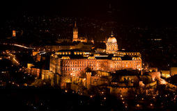 Buda Castle from the Citadelle. Royal Castle from the Citadelle in Budapest - Hungary Budapest castle by night (Hungary stock photography