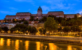 Buda Castle at dawn, early in the morning Royalty Free Stock Image
