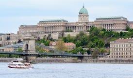 Buda Castle - de woonplaats van de Hongaarse koningen in Boedapest het kasteel is het culturele centrum van Boedapest het huisves royalty-vrije stock fotografie