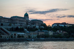 Buda Castle. The Buda Castle and the castle district in Budapest Royalty Free Stock Photo